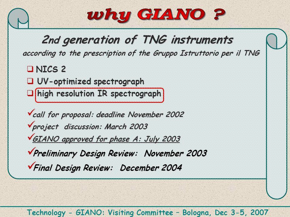 NICS 2 NICS 2 UV-optimized spectrograph UV-optimized spectrograph high resolution IR spectrograph high resolution IR spectrograph call for proposal: d
