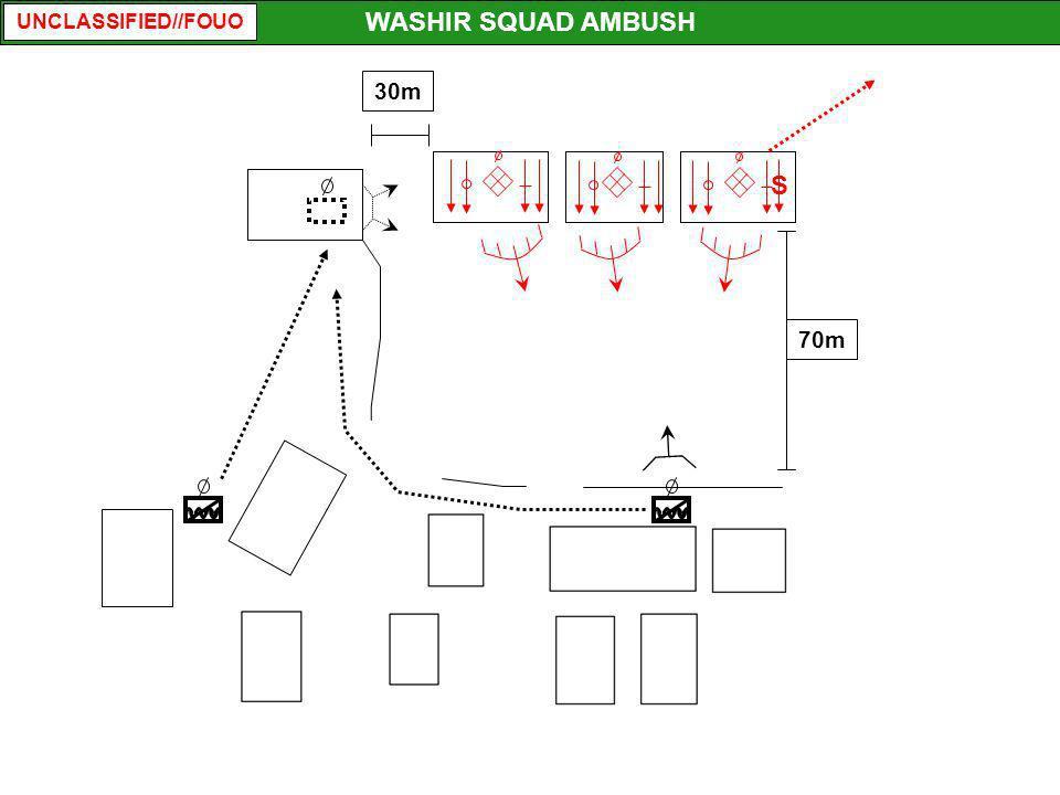 UNCLASSIFIED//FOUO 70m 30m WASHIR SQUAD AMBUSH S