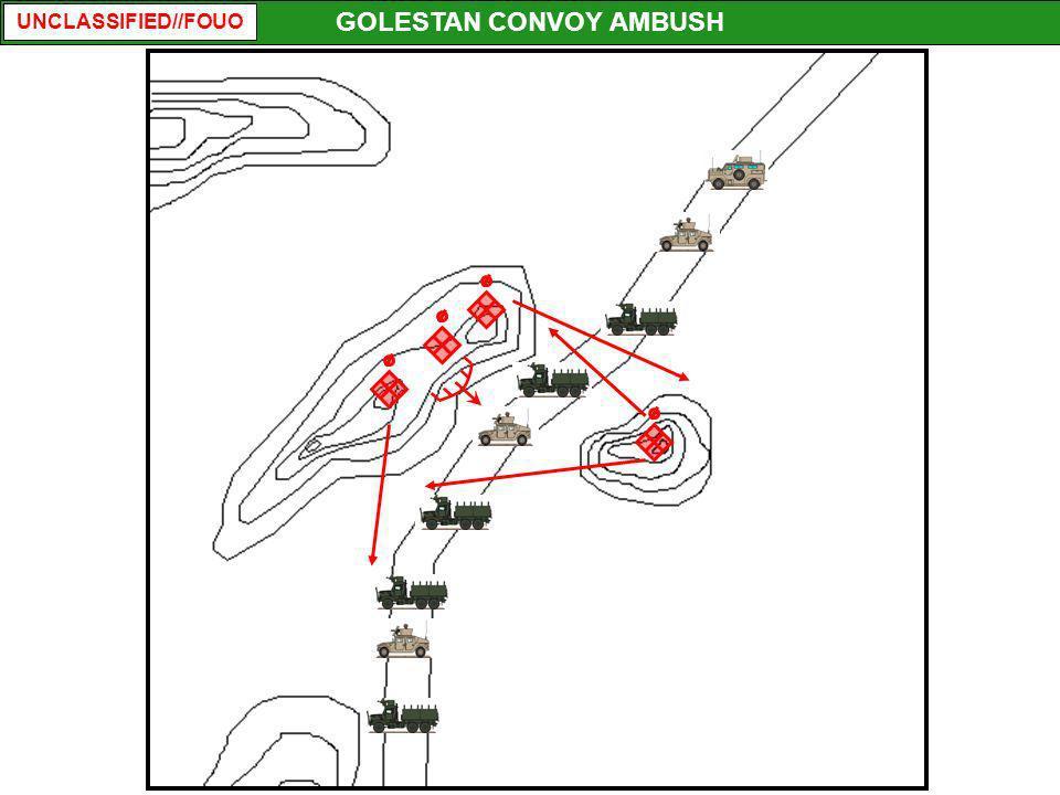 UNCLASSIFIED//FOUO GOLESTAN CONVOY AMBUSH