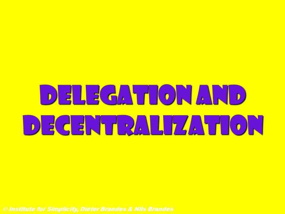 Delegation and Decentralization © Institute for Simplicity, Dieter Brandes & Nils Brandes