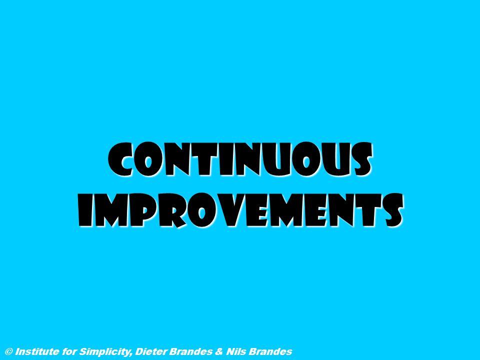 Continuous improvements © Institute for Simplicity, Dieter Brandes & Nils Brandes
