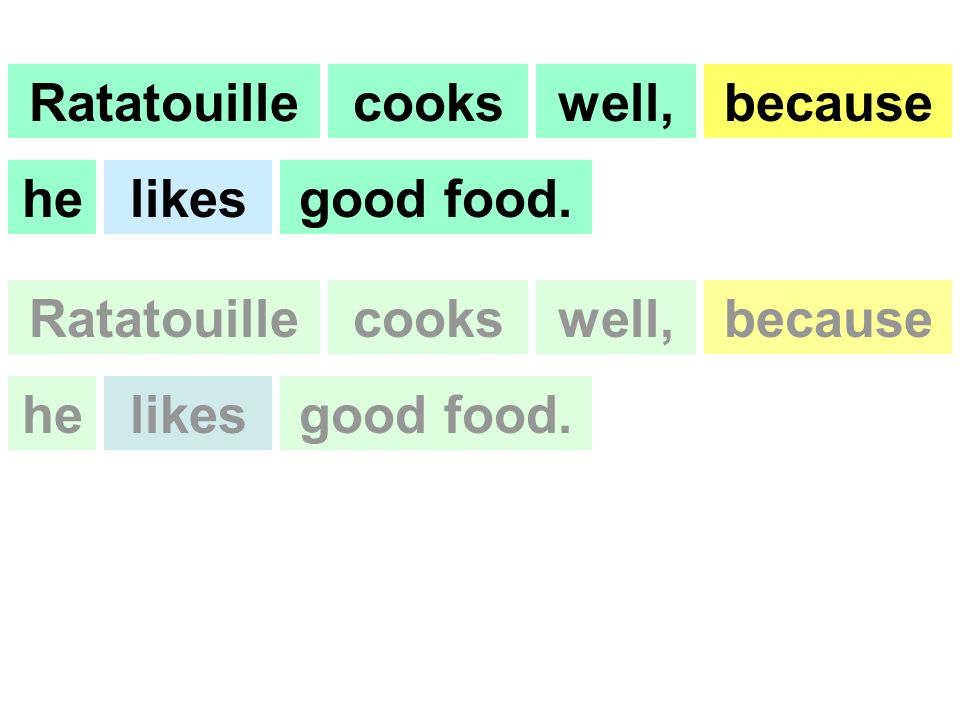 Ratatouillecookswell,because helikesgood food. Ratatouillecookswell,because helikesgood food.