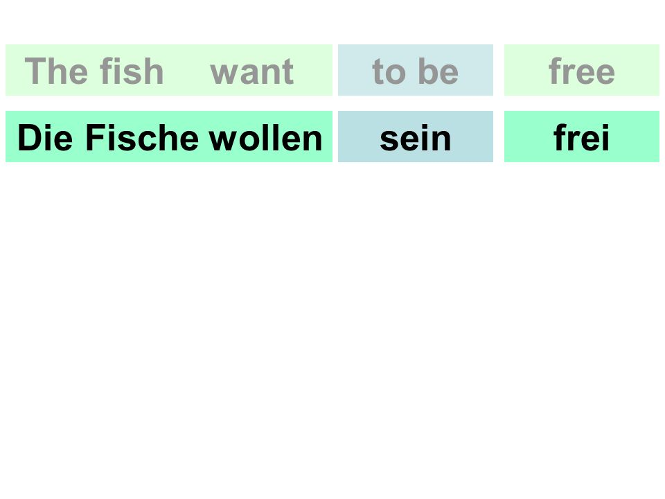 freeto be freisein The fishwant Die Fischewollen