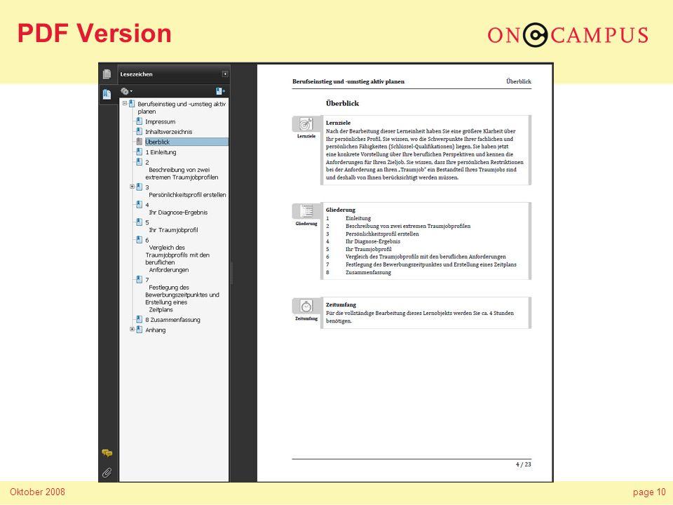 Oktober 2008page 10 PDF Version