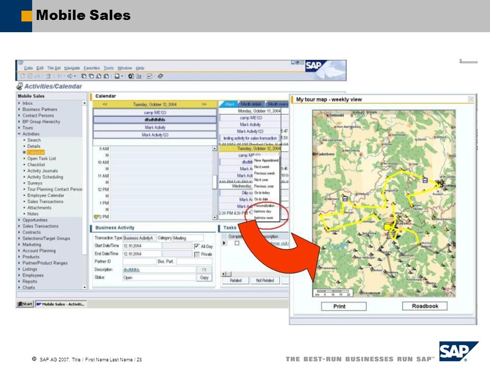 SAP AG 2007, Title / First Name Last Name / 28 Mobile Sales