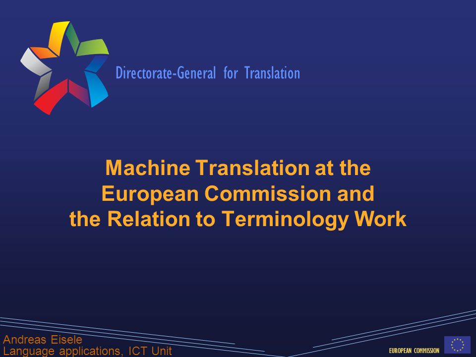 - 22 - MT@DGT How MT relates to Terminology Work MT should respect existing terminology In case of doubt, official terms should be preferred over alternative wordings SMT models can be tuned to respect such preferences Training corpora contain inconsistent terminology Causes inconsistencies in MT results, unless properly handled Systematic detection of such cases will improve MT quality Training SMT from translation memories can identify new terminology as used in practice Frequent terms not in IATE can be identified and manually validated This can speed up the development of IATE for new languages Experiments with RO LD ongoing first results: 2275 out of 2415 manually checked RO terms were good precision of 94%
