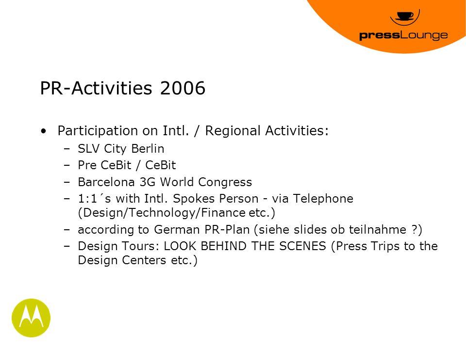 PR-Activities 2006 Participation on Intl.