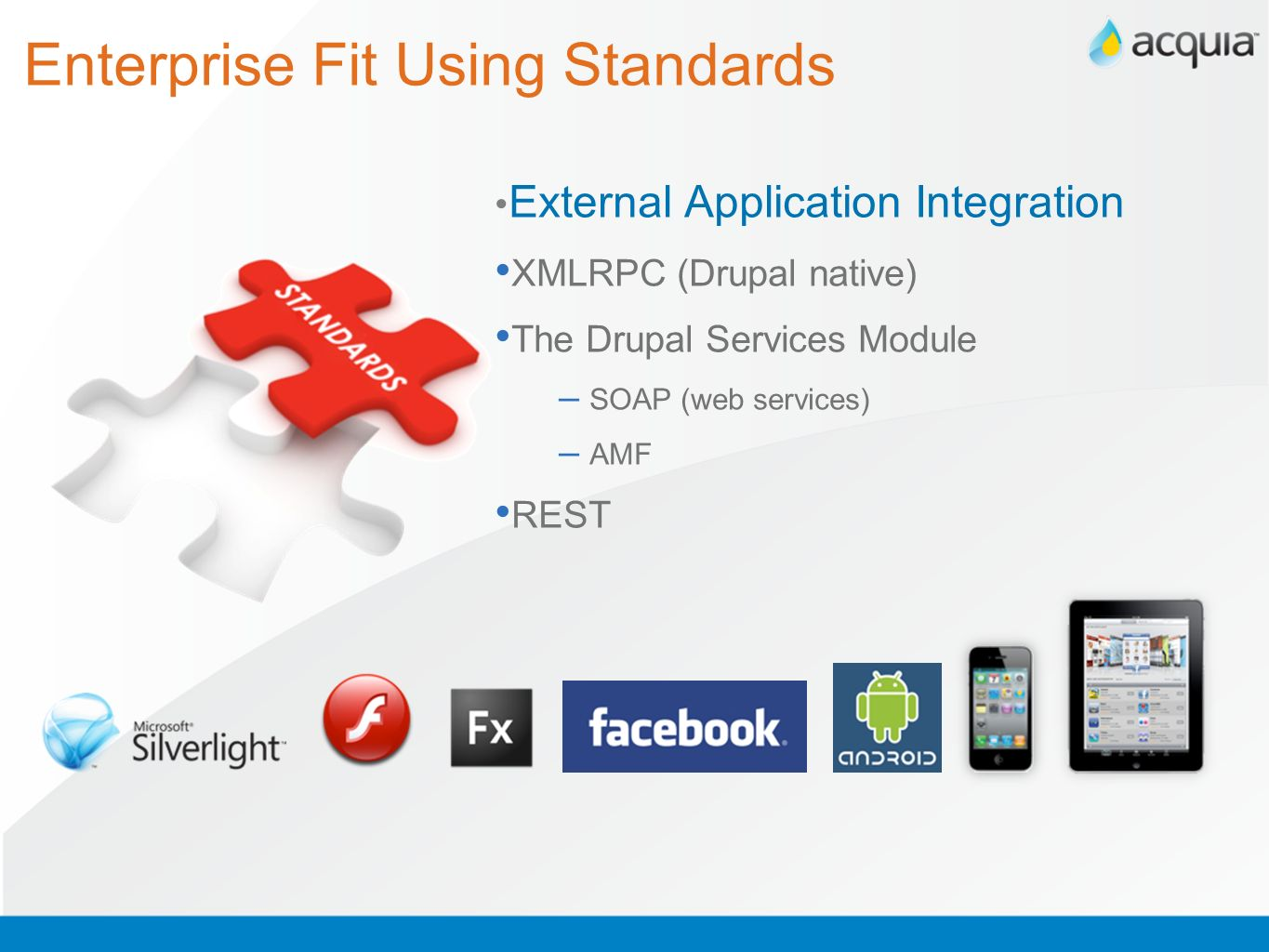 Enterprise Fit Using Standards Database Abstraction Layer