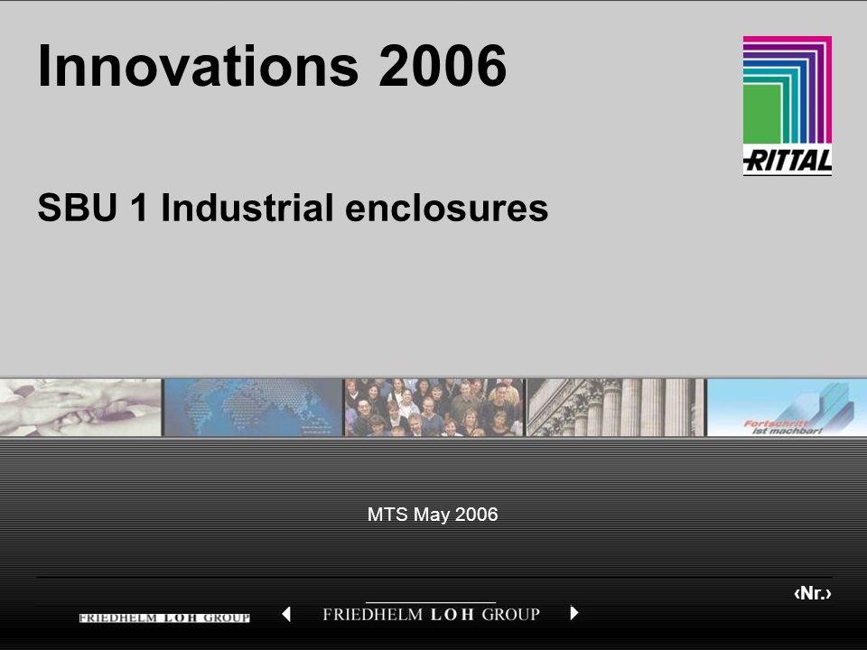 Nr. MTS May 2006 Innovations 2006 SBU 1 Industrial enclosures
