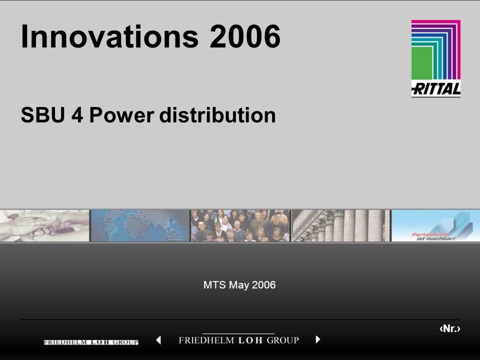 Nr. MTS May 2006 Innovations 2006 SBU 4 Power distribution