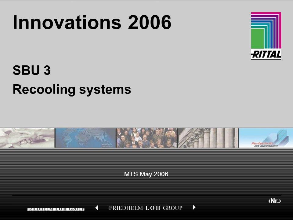 Nr. MTS May 2006 Innovations 2006 SBU 3 Recooling systems