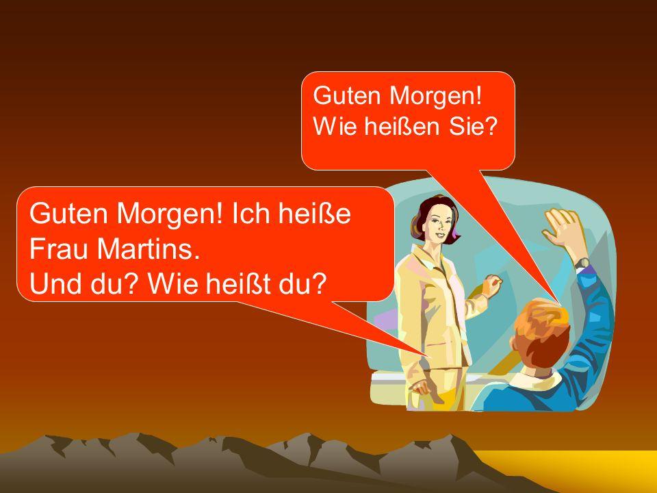 Examples of when to use each pronoun: Hallo.Wie heißt du.