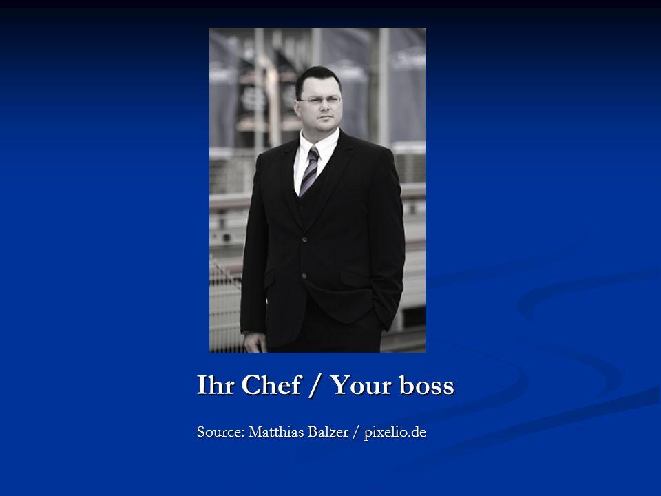 Ihr Chef / Your boss Ihr Chef / Your boss Source: Matthias Balzer / pixelio.de Source: Matthias Balzer / pixelio.de