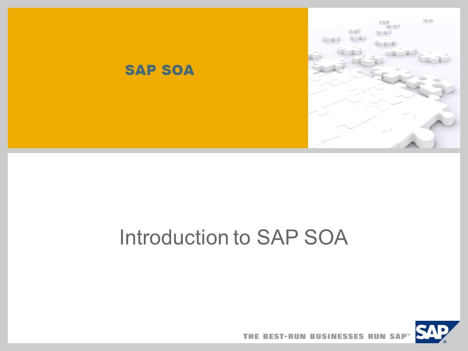 SAP SOA Introduction to SAP SOA