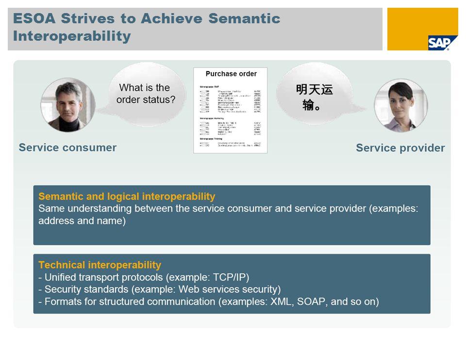 ESOA Strives to Achieve Semantic Interoperability