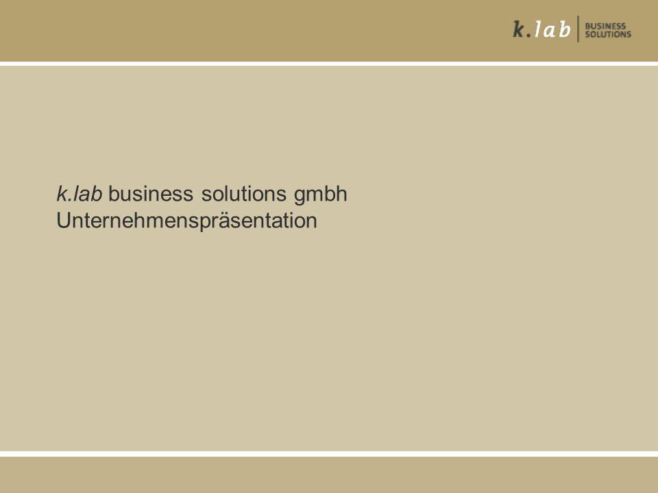 k.lab business solutions gmbh Unternehmenspräsentation