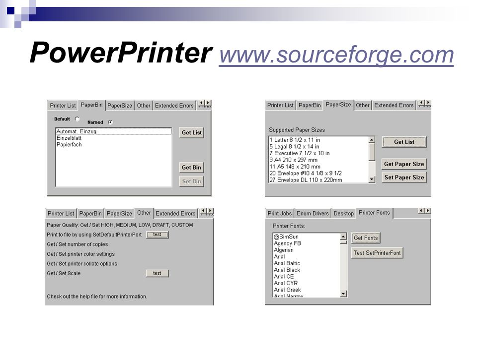 PowerPrinter www.sourceforge.com www.sourceforge.com