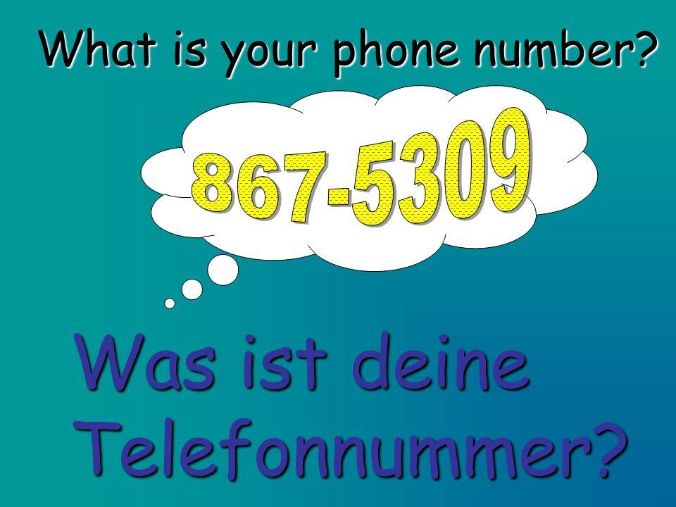 What is your phone number? Was ist deine Telefonnummer?