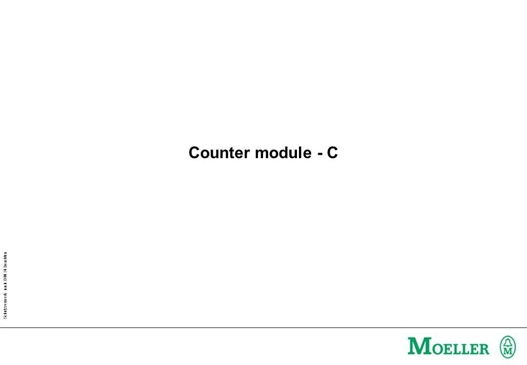 Schutzvermerk nach DIN 34 beachten Counter module - C