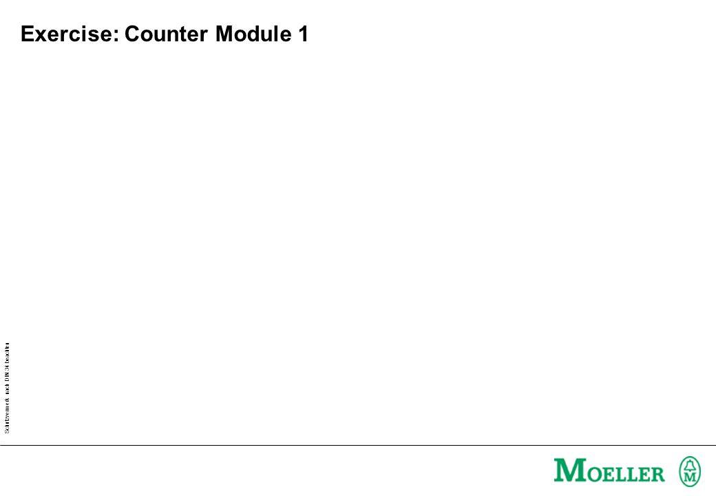 Schutzvermerk nach DIN 34 beachten Exercise: Counter Module 1