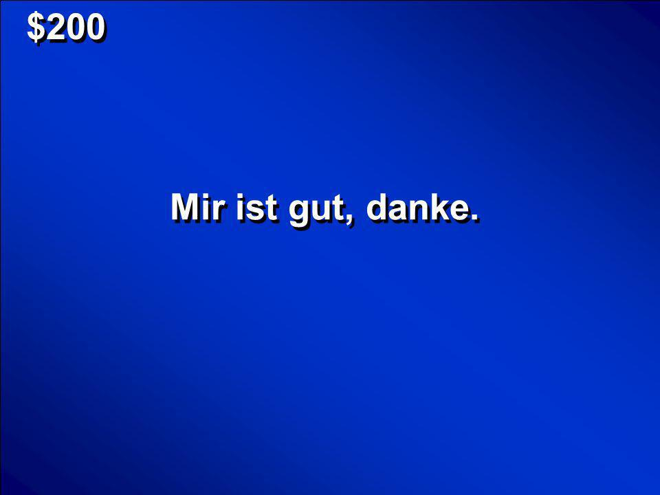 © Mark E. Damon - All Rights Reserved $100 What is Gehen wir ins Kino? Scores