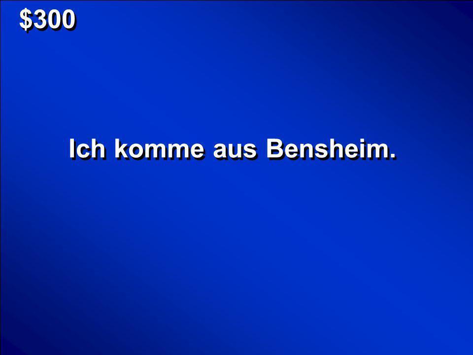 © Mark E. Damon - All Rights Reserved $300 Ich komme aus Bensheim.