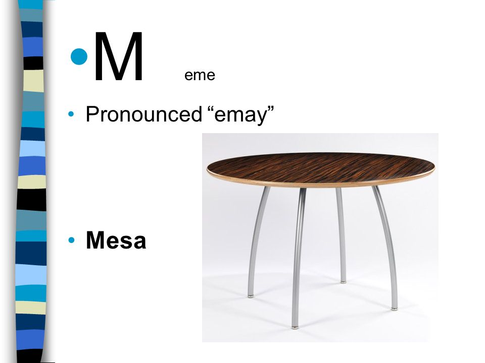 M eme Pronounced emay Mesa