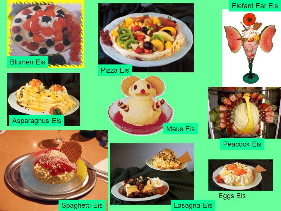 Pizza Eis Maus Eis Lasagna Eis Peacock Eis Spaghetti Eis Asparaghus Eis Eggs Eis Elefant Ear Eis Blumen Eis
