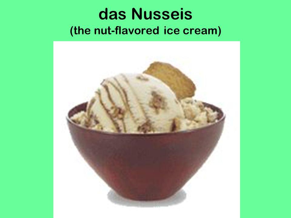 das Zitroneneis (the lemon ice cream)