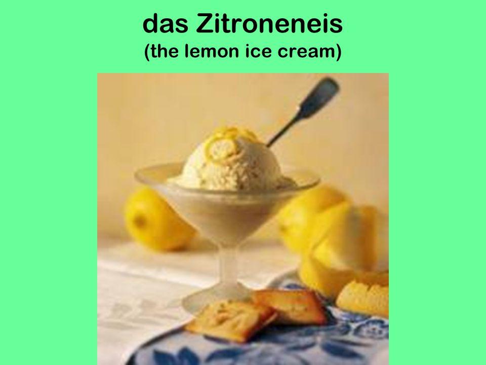 das Schokoeis mit Schlagsahne (the chocolate ice cream with whipped cream!)