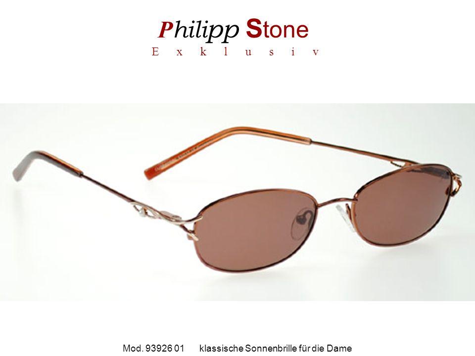 P hili pp S tone E x k l u s i v Mod. 93926 01 klassische Sonnenbrille für die Dame