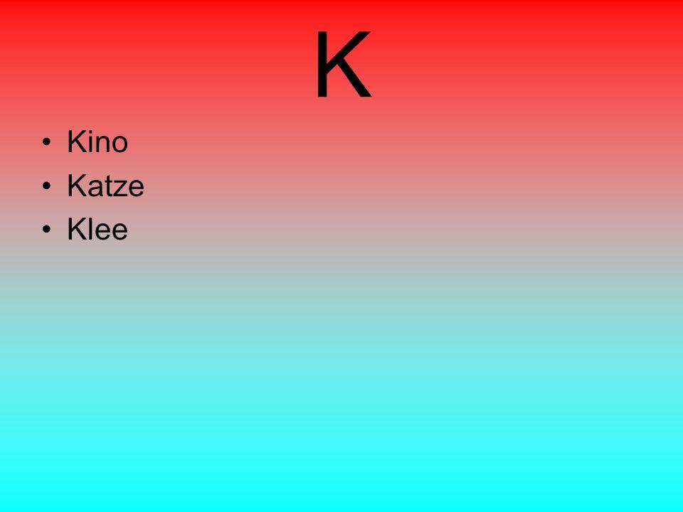 K Kino Katze Klee