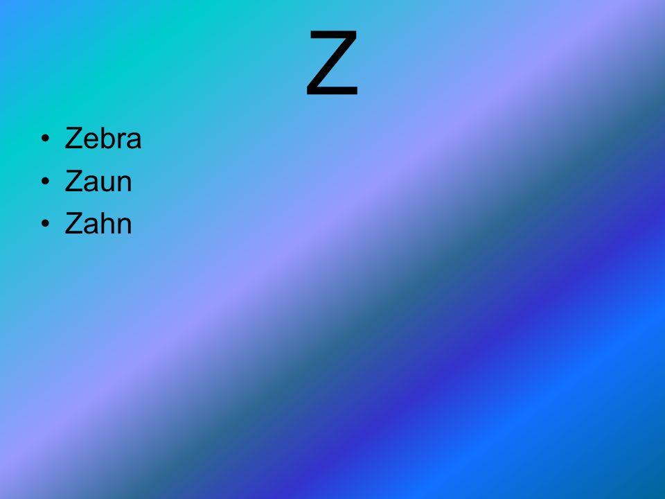 Z Zebra Zaun Zahn