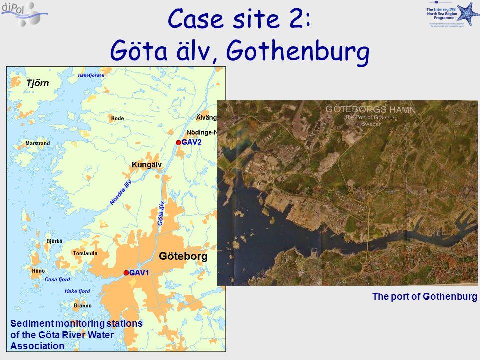 Case site 2: Göta älv, Gothenburg Sediment monitoring stations of the Göta River Water Association The port of Gothenburg