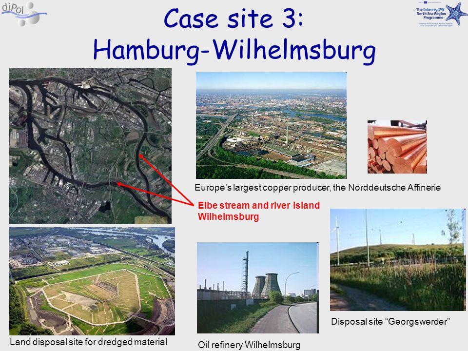 Case site 3: Hamburg-Wilhelmsburg Europes largest copper producer, the Norddeutsche Affinerie Disposal site Georgswerder Land disposal site for dredge