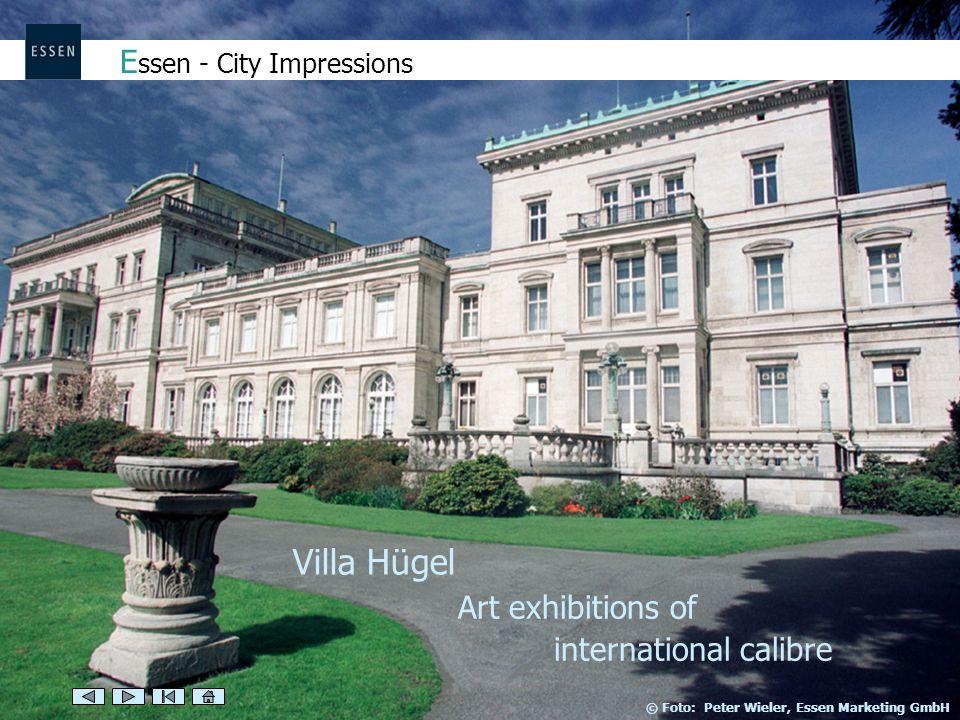 Art exhibitions of international calibre E ssen - City Impressions Villa Hügel © Foto: Peter Wieler, Essen Marketing GmbH