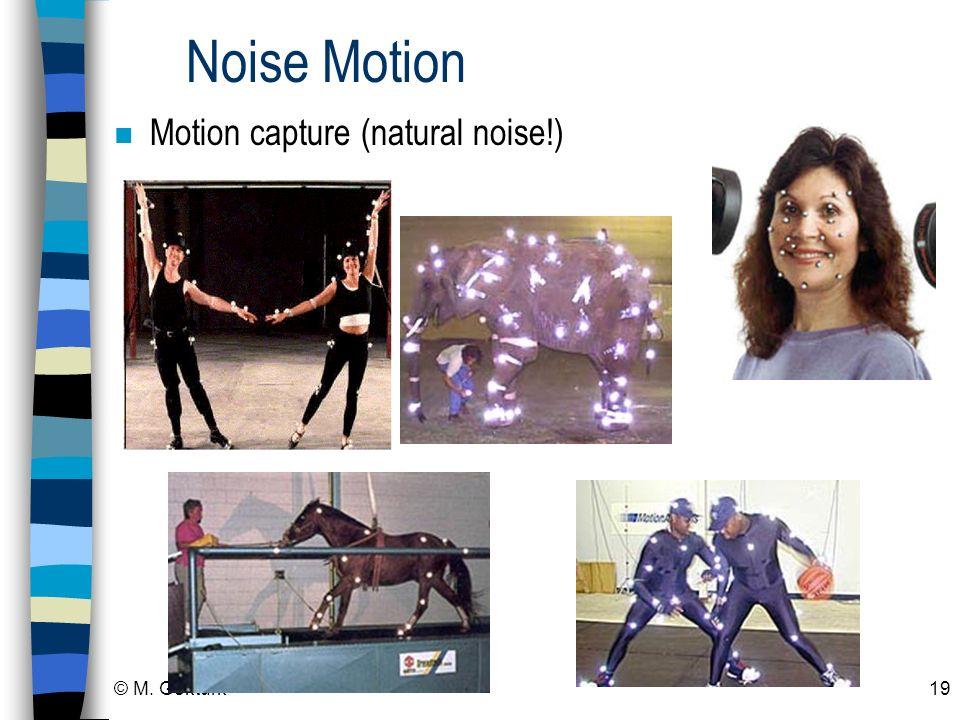 © M. Gokturk19 Noise Motion n Motion capture (natural noise!)
