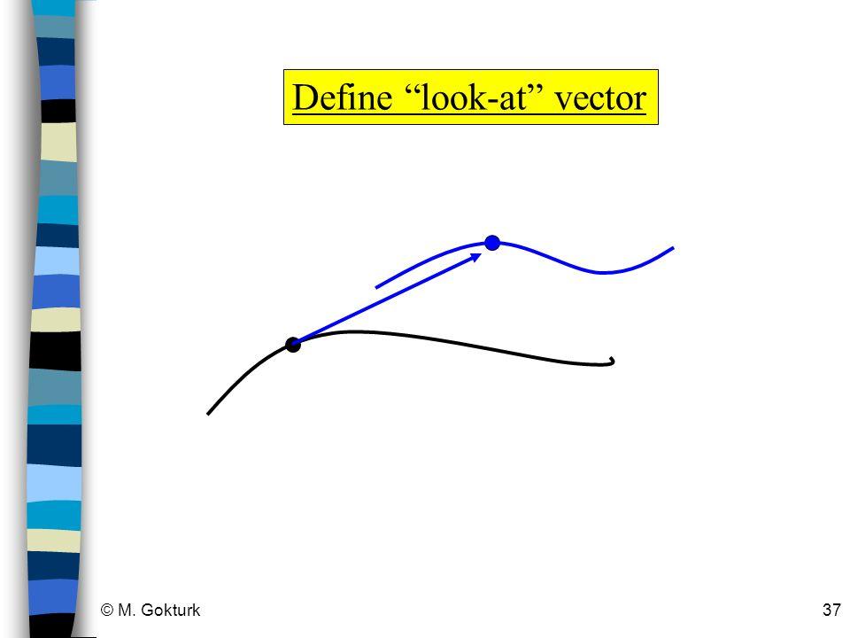 © M. Gokturk37 Define look-at vector
