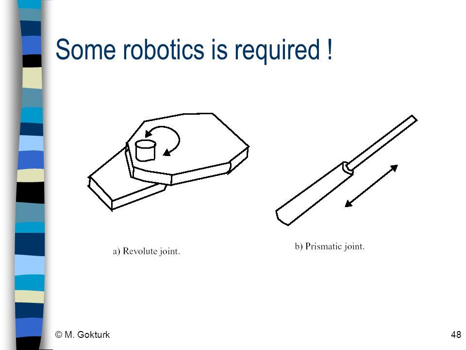 © M. Gokturk48 Some robotics is required !