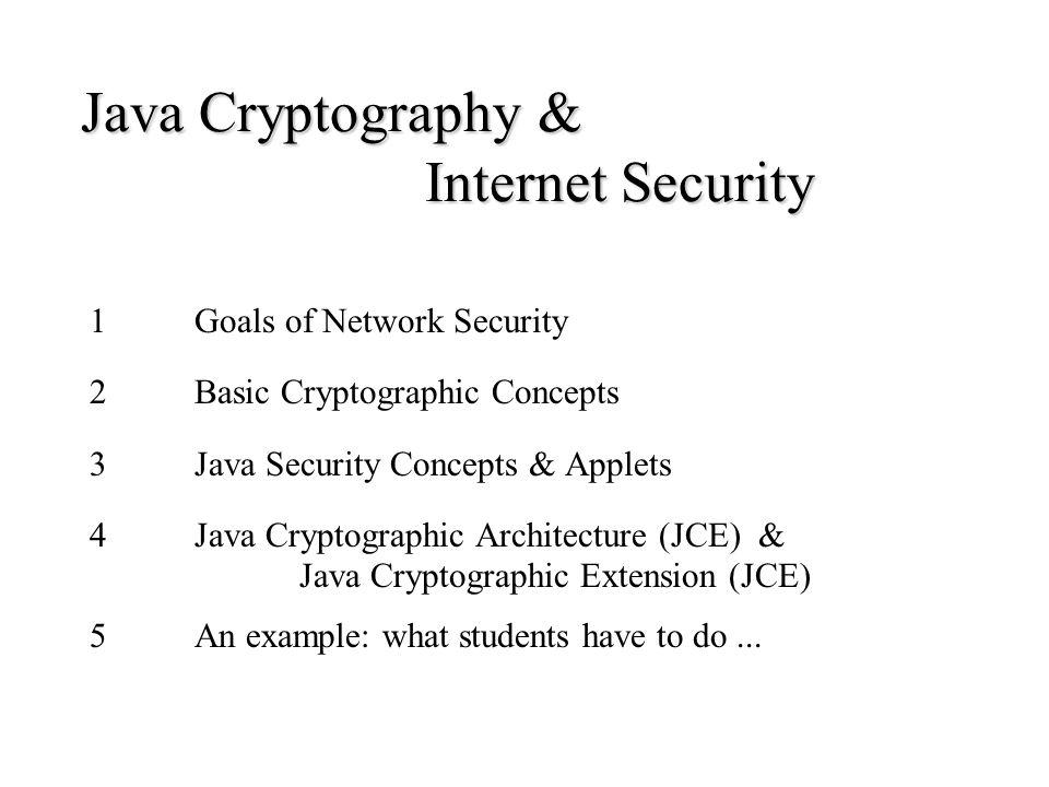 import java.security.*; import java.security.cert.*; import java.io.*; import java.util.*; import javax.crypto.*; public class Beleg01PruefS{ public static void main(String args []){ // Arbeitsverzeichnis: htw4711 // Aufruf: java Beleg01PruefS htw4711 try { // Zeitpunkt der Ueberpruefung registrieren ------------- System.out.println( Beleg geprueft: ); System.out.println((new Date()).toLocaleString()); // Provider SunJCE eintragen ---------------------------- Provider sunJCE = new com.sun.crypto.provider.SunJCE(); Security.addProvider(sunJCE);