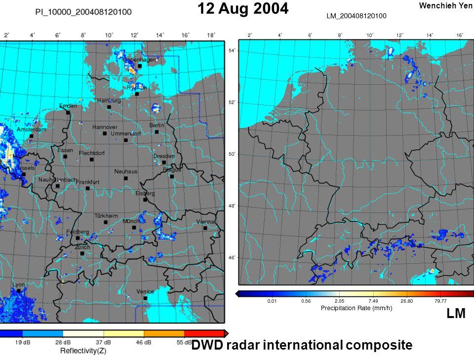 12 Aug 2004 DWD radar international composite LM Wenchieh Yen