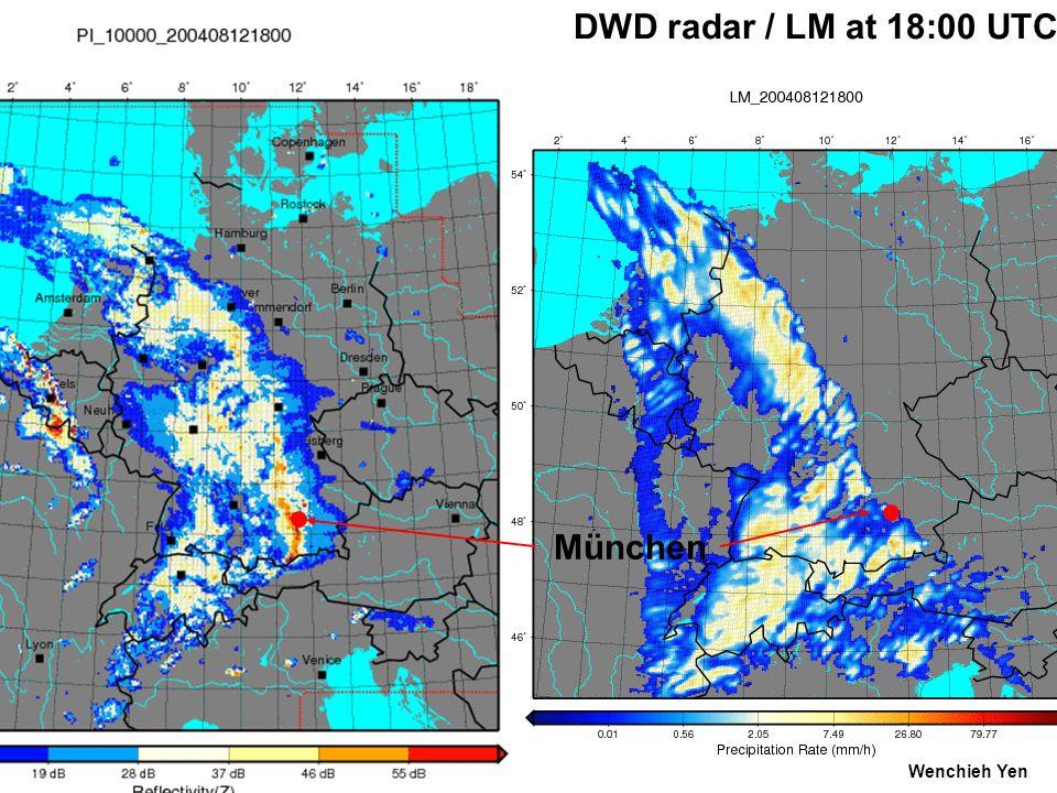 DWD radar / LM at 18:00 UTC München Wenchieh Yen