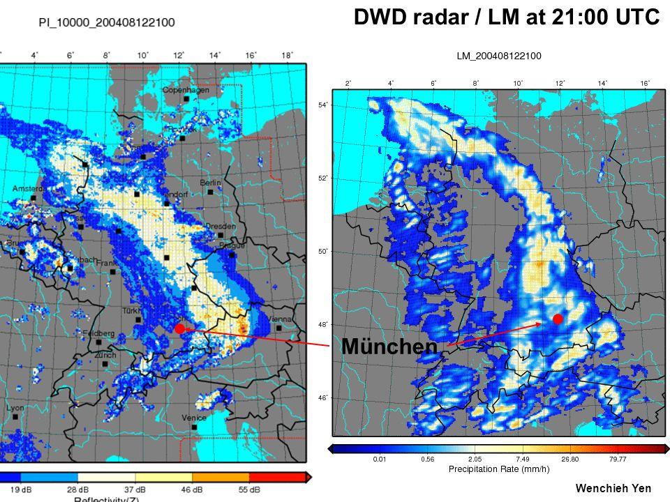 DWD radar / LM at 21:00 UTC München Wenchieh Yen