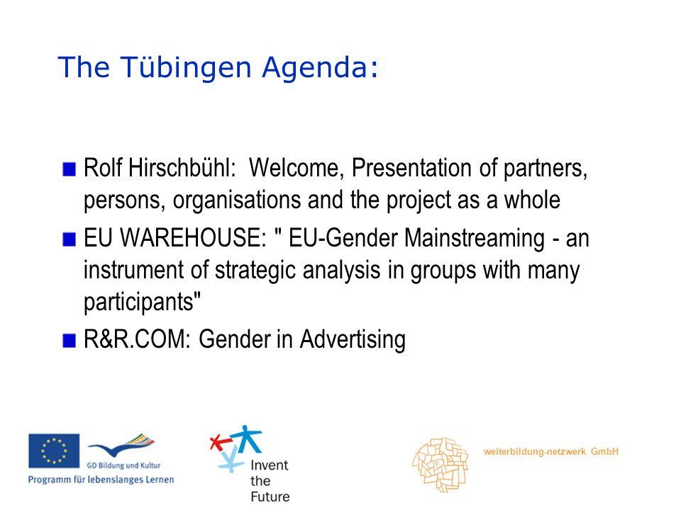 weiterbildung-netzwerk GmbH Guided Tour: Traces of Women in Tübingen, Bea Dörr, Bildungszentrum und Archiv zur Frauengeschichte Baden-Württembergs The Tübingen Agenda: