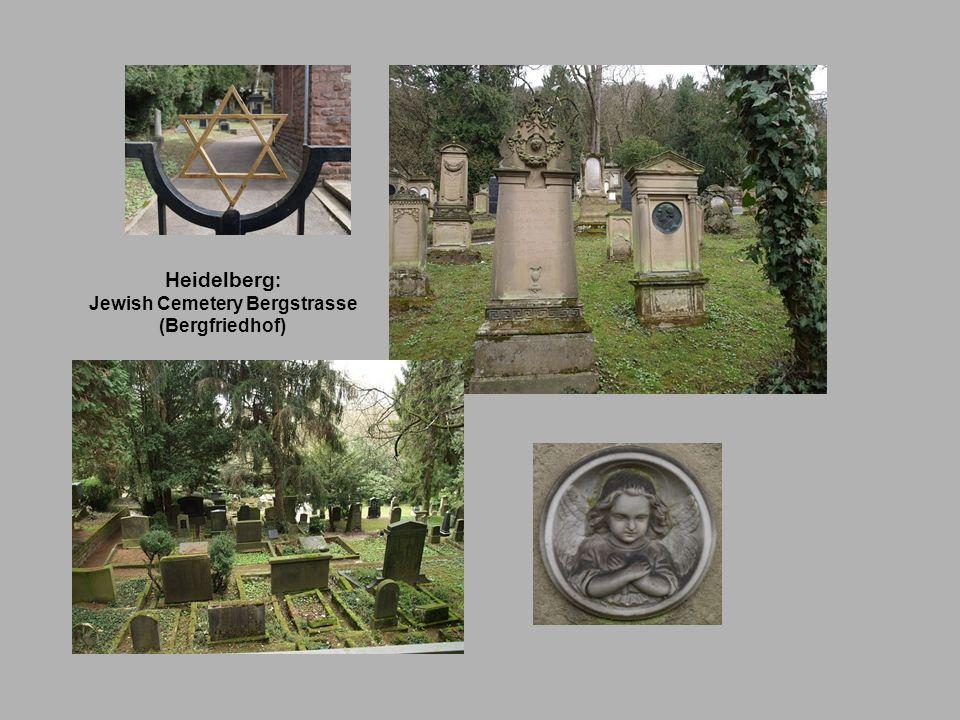 Heidelberg : Jewish Cemetery Bergstrasse (Bergfriedhof)