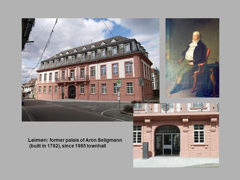 Leimen : former palais of Aron Seligmann (built in 1792), since 1985 townhall