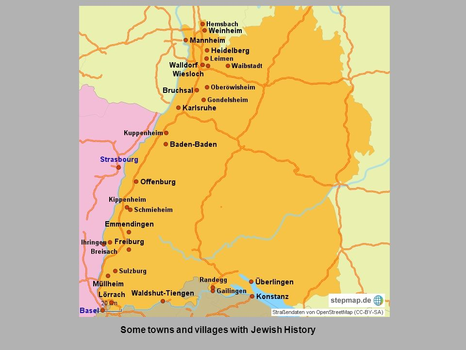 Some towns and villages with Jewish History