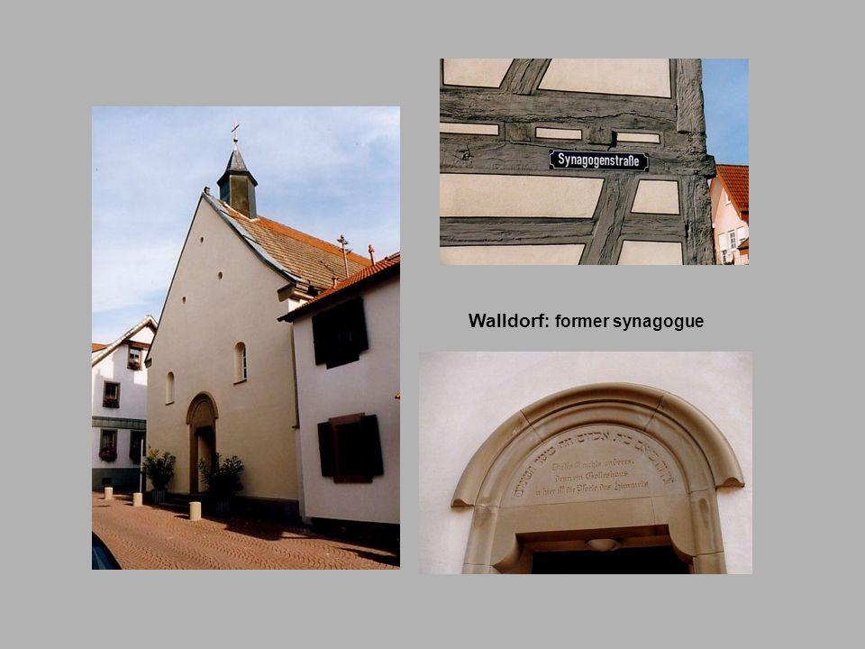Walldorf : former synagogue