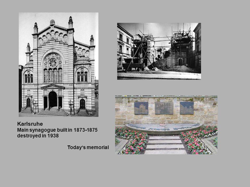Karlsruhe Main synagogue built in 1873-1875 destroyed in 1938 Todays memorial