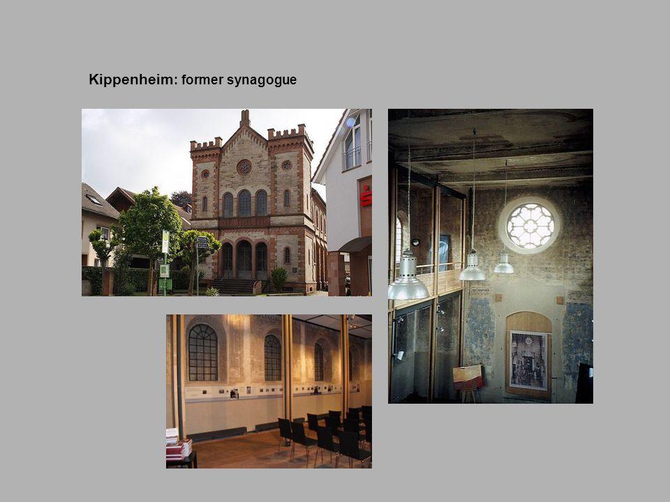 Kippenheim Kippenheim : former synagogue